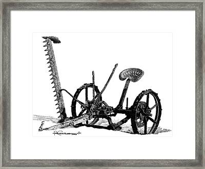Maple Lake Mower Framed Print by Rob Christensen