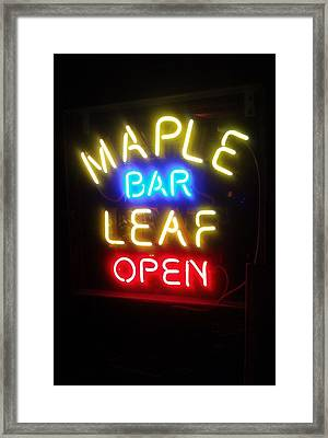 Maple Leaf Bar Framed Print