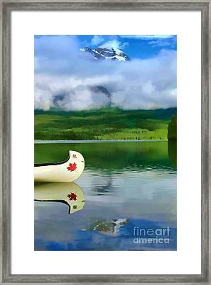 Maple Leaf Canoe On Pyramid Lake Framed Print