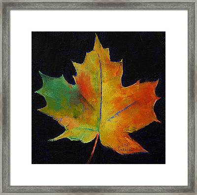Maple Leaf Framed Print by Michael Creese