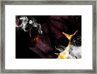 Maple Leafs And Nice Smoke Framed Print by Tommytechno Sweden