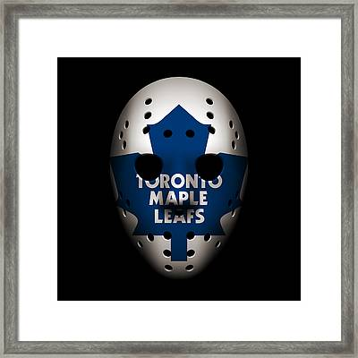 Maple Leafs Goalie Mask Framed Print by Joe Hamilton