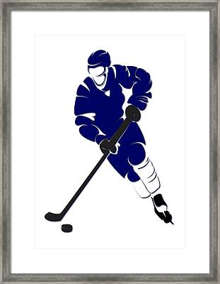 Maple Leafs Shadow Player Framed Print by Joe Hamilton