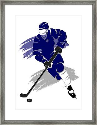 Maple Leafs Shadow Player2 Framed Print by Joe Hamilton