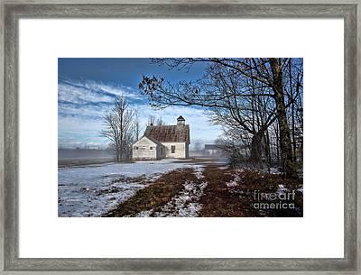 Maple Ridge Schoolhouse Framed Print by Thomas J Martin