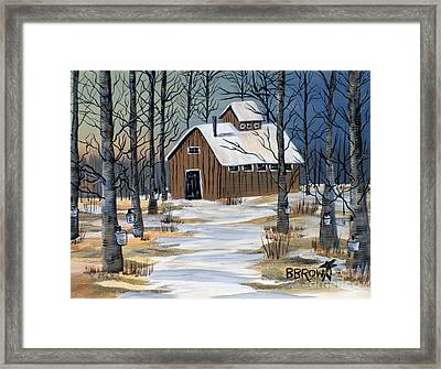 Maple Syrup Shack Framed Print by Brenda Brown