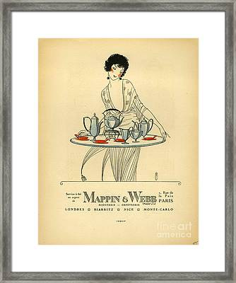 Mappin And Webb  1920s France Cc Tea Framed Print