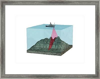 Mapping The Ocean Floor Framed Print