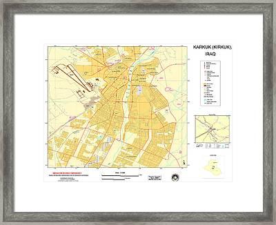 Maps Of Al Basrah And Kirkuk Iraq 2003 Framed Print