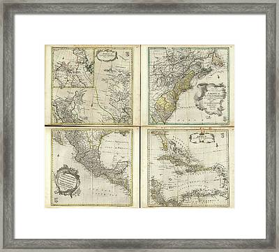Maps Of North America Framed Print by Library Of Congress, Geography And Map Division