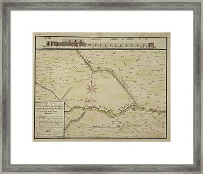 Maps Of Towns In The North Of Mexico Framed Print by British Library