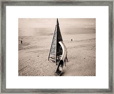 Mar Bella, Barcelona Framed Print