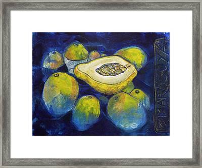 Maracuya/passion Fruit Framed Print