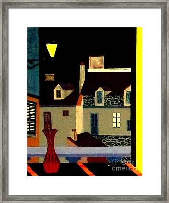 Marais At Night Framed Print by Bill OConnor