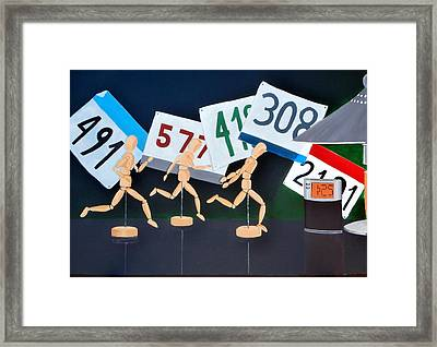 Marathon Man Framed Print by Karyn Robinson