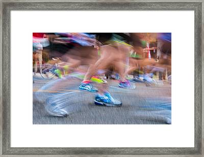 Marathon Framed Print