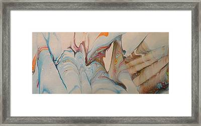 Framed Print featuring the painting Marble 24 by Mike Breau