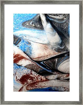Framed Print featuring the painting Marble 4 by Mike Breau