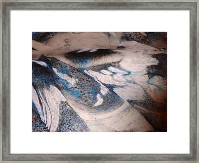 Framed Print featuring the painting Marble 7 by Mike Breau