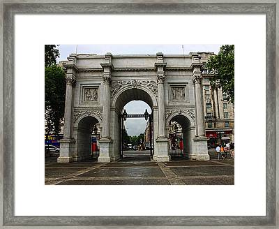 Marble Arch Framed Print by Nicky Jameson
