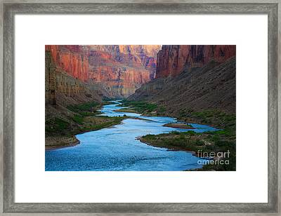 Marble Canyon Rafters Framed Print by Inge Johnsson