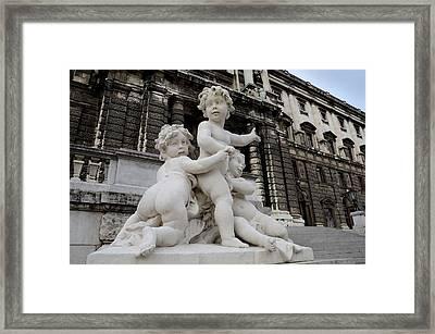 Marble Cherub And Angels Statue Vienna Austria Framed Print by Imran Ahmed