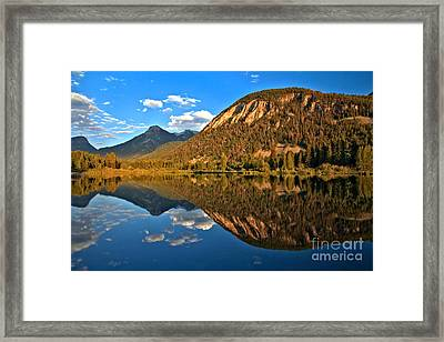 Marble Colorado Fishing Lake Framed Print
