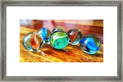 Marble Ducks Framed Print by Isabella F Abbie Shores FRSA