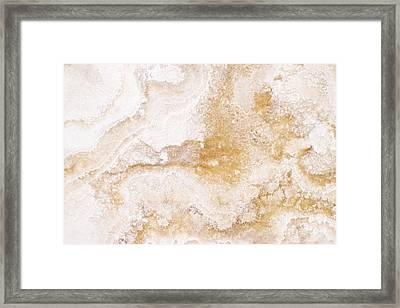 Marble Framed Print by Elena Elisseeva