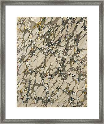 Marble Endpaper Framed Print by English School