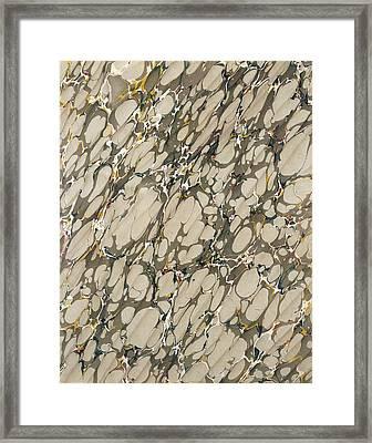 Marble Endpaper Framed Print