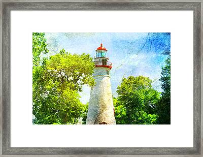 Marble Headlight Framed Print