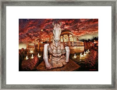 Marble Horse  Framed Print