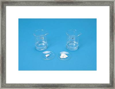 Marble In Acid Demonstration Framed Print by Trevor Clifford Photography