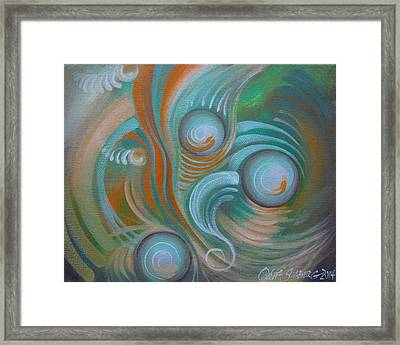 Marble Madness Framed Print