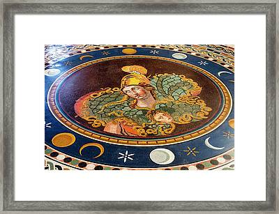 Marble Mosaic In Vatican Museum. Framed Print by Mark Williamson