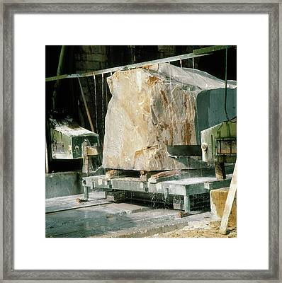 Marble Quarry At Fantiscritti Caves Framed Print by Sheila Terry/science Photo Library.