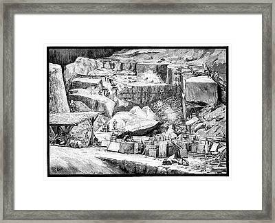 Marble Quarry Framed Print by Science Photo Library
