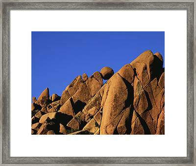 Marble Rock Formation Normal Framed Print