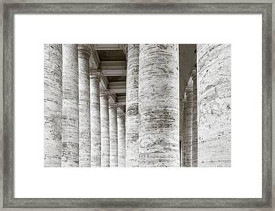 Marble Roman Columns Framed Print