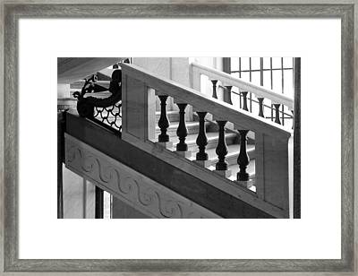Framed Print featuring the photograph Marble Stair by Brad Brizek