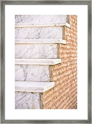 Marble Steps Framed Print