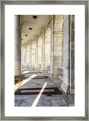 Framed Print featuring the photograph Marble Sunlight And Silence by Ross Henton
