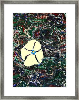 Marbled Flower Framed Print by Melissa Murphy