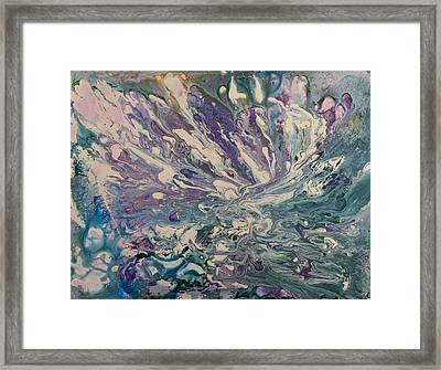 Marbled Paisley II Framed Print