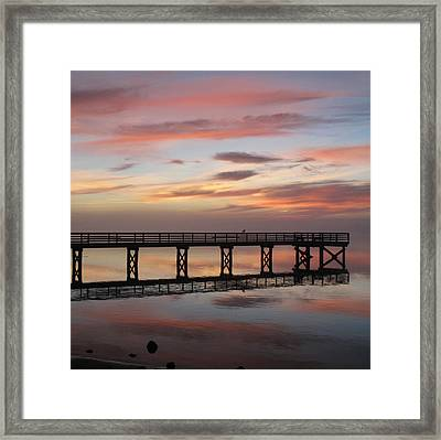 Framed Print featuring the photograph Marbled Pier by Suzy Piatt