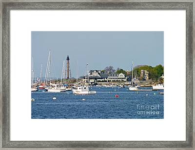 Marblehead Light And Yacht Club Framed Print