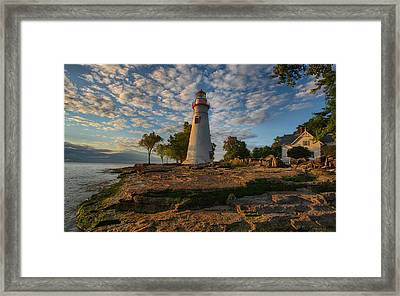 Marblehead Lighthouse Framed Print by Daniel Behm