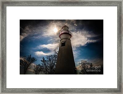 Marblehead Lighthouse Framed Print by Lori England Zornes