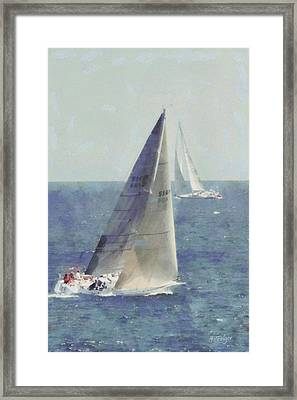 Marblehead To Halifax Ocean Race Framed Print by Jeff Folger